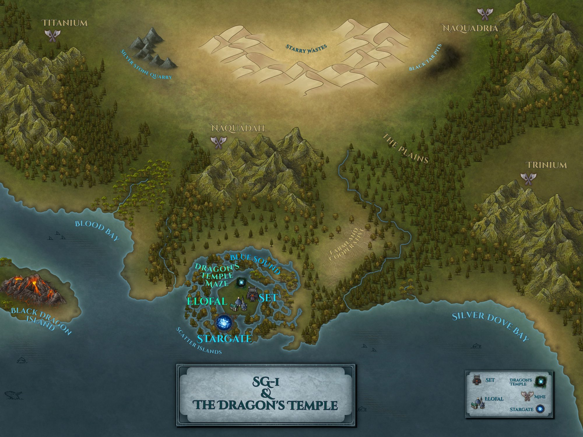 The final map of the Dragon's Temple.